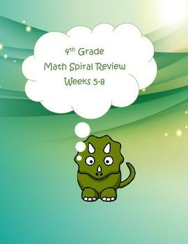 4th Grade Math Spiral Review (TEKS aligned) Weeks 5-8
