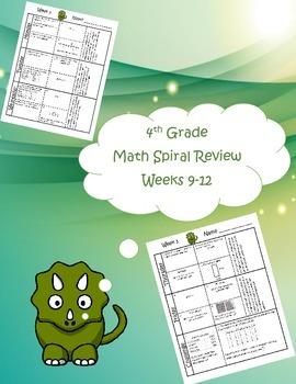 4th Grade Math Spiral Review (TEKS aligned) Weeks 9-12