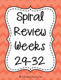4th Grade Math Spiral Review (Weeks 29-32)