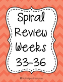 4th Grade Math Spiral Review (Weeks 33-36)