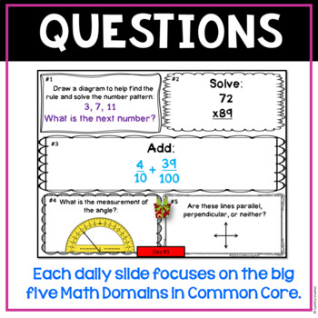 December Daily Math Spiral!