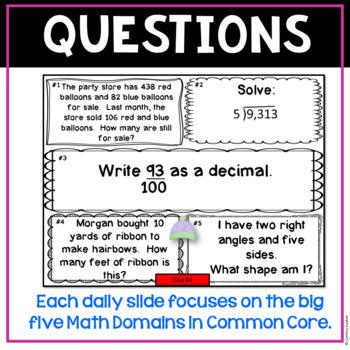 January Daily Math Spiral!