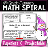 January Daily Math Spiral for 4th Grade (Common Core)
