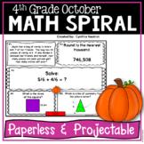 October Daily Math Spiral!