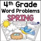 Spring Math Word Problem Worksheets 4th Grade Common Core
