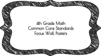4th Grade Math Standards on Black Colored Frame