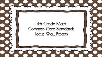 4th Grade Math Standards on Brown Polka Dotted Frame
