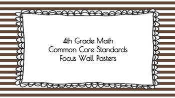 4th Grade Math Standards on Brown Striped Frame