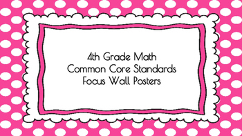4th Grade Math Standards on Pink Polka Dotted Frame