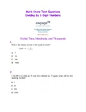 4th Grade Math State Questions Dividing by 1-Digit Number