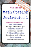 4th Grade Math Stations 1