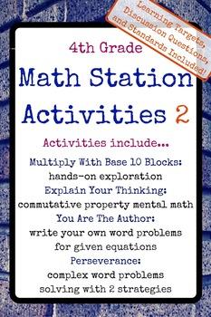 4th Grade Math Stations 2