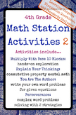 4th Grade Math Stations 2