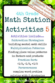 4th Grade Math Stations 5