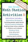 4th Grade Math Centers/ Math Stations 5