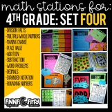 4th Grade Math Stations:  Set Four