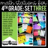 4th Grade Math Stations:  Set Three