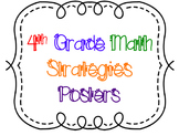 4th Grade Math Strategies Posters