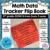 4th Grade Math Data Tracker Flip Book (5 point scale)