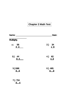 4th Grade Math Study Guide with Test