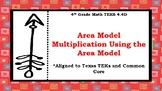 4th Grade Math TEKS 4.4D   Area Model Multiplication Using