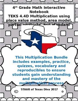 4th Grade Math TEKS 4.4D Sample Interactive Notebook