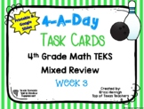 4th Grade Math TEKS: 4 A Day Review Task Cards Week 3 Goog