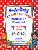 4th Grade Math TEKS: 4 A Day STAAR Prep GROWING Bundle(TX Tornado Spiral Review)