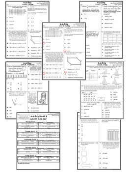 4th Grade Math TEKS: 4 A Day STAAR Prep Bundle of Weeks 1-8 (8 Weeks)