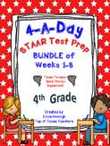 4th Grade Math TEKS: 4 A Day STAAR Prep Bundle of Weeks 1-
