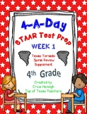 4th Grade Math TEKS: 4 A Day STAAR Prep Week 1 (TX Tornado Spiral Review Sup)