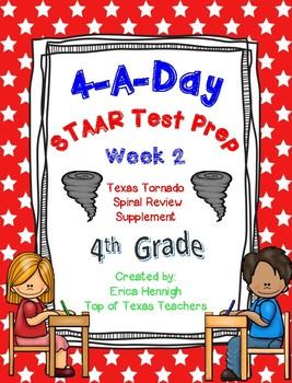4th Grade Math TEKS: 4 A Day STAAR Prep Week 2
