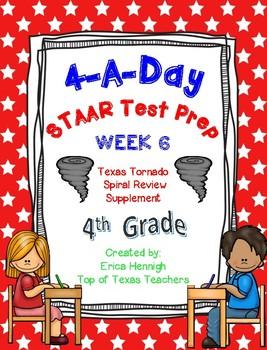 4th Grade Math TEKS: 4 A Day STAAR Prep Week 6