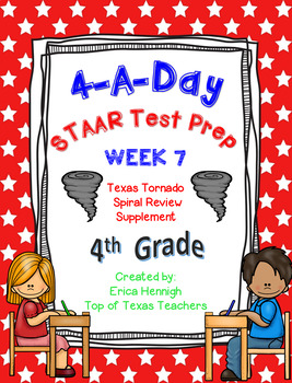 4th Grade Math TEKS: 4 A Day STAAR Prep Week 7