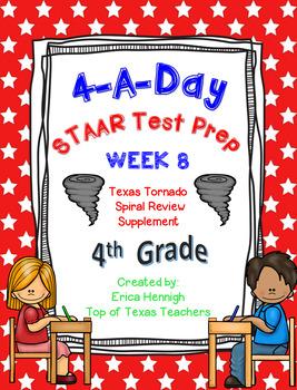 4th Grade Math TEKS: 4 A Day STAAR Prep Week 8