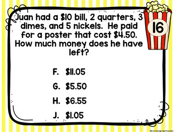4th Grade Math TEKS: 4 A Day STAAR Spiral Review Task Cards Week 1 (Paper cards)