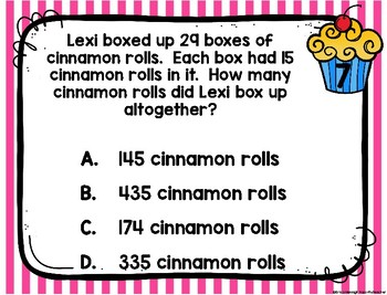 4th Grade Math TEKS:4 A Day STAAR Spiral Review Task Cards Week 2- Digital/Paper