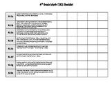4th Grade Math TEKS Tracker Checklist (UPDATED/NEW TEKS)