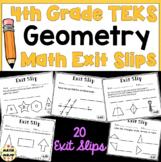 4th Grade Math TEKS Exit Slips: Geometry