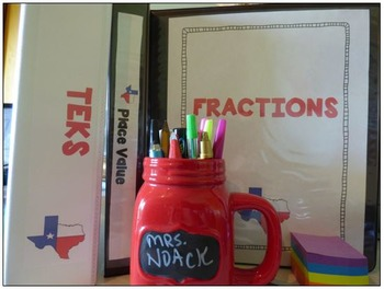 4th Grade Math TEKS Organization- Get Your Binders and Files Organized!