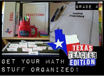 4th Grade Math TEKS Organization- Get Your Binders and Fil
