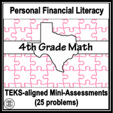 4th Grade Math TEKS Personal Financial Literacy