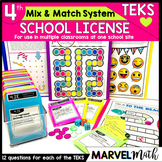 4th Grade Math TEKS Campus License: Games,  STAAR Review, Assessments