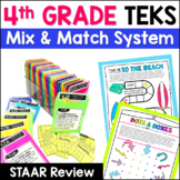 4th Grade Math TEKS: Station Games,  STAAR Review, Common Assessments