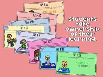 4th Grade Math TEKS Student Mastery Tracker - Digital Resource