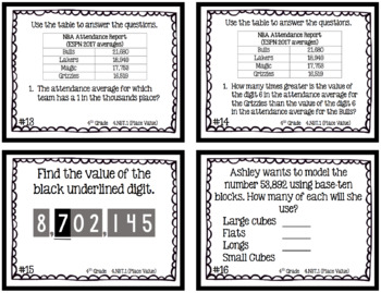 Place Value Task Card Bundle (4 Sets)