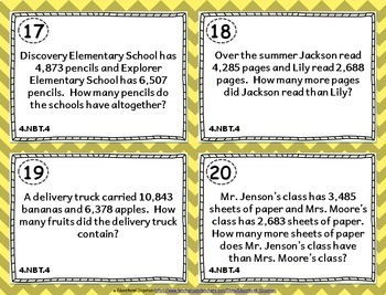 4th Grade Math Task Cards: 4th Grade Task Cards Math MEGA Bundle