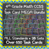 4th Grade Math Task Cards MEGA Bundle ⭐Common-Core Aligned⭐