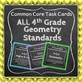4th Grade Geometry Task Cards: Geometry Task Cards Fourth