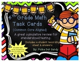 4th Grade Math Task Cards - Common Core Aligned - Includes Blank Task Cards
